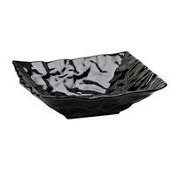 Elite Global Solutions M10102 Crinkled Paper Black 1.5 Qt. Square Melamine Bowl