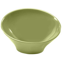 Elite Global Solutions M75 Pappasan Weeping Willow Green 18 oz. Slanted Melamine Bowl