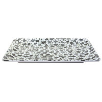 Elite Global Solutions M1811RC Rock On Gray River Rock 18 inch x 11 1/2 inch Rectangular Platter