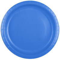 Creative Converting 50145B 10 inch True Blue Paper Plate - 240 / Case