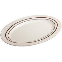GET M-4020-U Ultraware 14 inch x 10 inch Ironstone Oval Platter - 12/Case