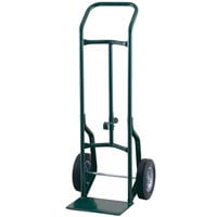 Harper 52DAK19 Continuous Handle 600 lb. Steel Hand / Drum Truck with Chime Hook and 10 inch x 3 1/2 inch Pneumatic Wheels