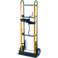 Harper 6557 800 lb. Appliance Truck with Belt Tightener and 8 inch x 2 1/4 inch Solid Rubber Wheels - 14 Gauge