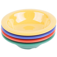 GET B-454-MIX Diamond Mardi Gras 4.5 oz. Melamine Bowl, Assorted Colors - 48/Case