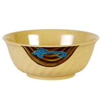 Wei 48 oz. Round Melamine Swirl Bowl - 12/Case