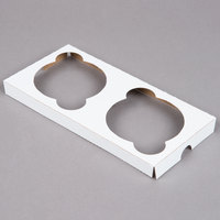 Southern Champion 10005 Cupcake / Muffin Insert - Holds 2 Muffins or Jumbo Cupcakes - 200/Case