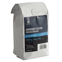 Crown Beverages 12 oz. Emperor's Blend Ground Espresso - 6/Case