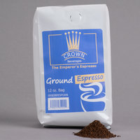 Crown Beverages Emperor's Ground Espresso 12 oz. Bag - 6/Case