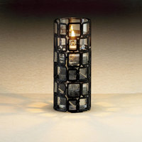 Sterno Products 85248 2 7/8 inch x 6 inch Black Square Wire Metal Lamp Base