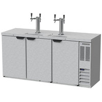 Beverage-Air DD72HC-1-S (2) Double Tap Kegerator Beer Dispenser - Stainless Steel, (3) 1/2 Keg Capacity