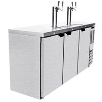 Beverage-Air DD72HC-1-S (2) Double Tap Kegerator Beer Dispenser - Stainless Steel, (3) 1/2 Keg Capacity