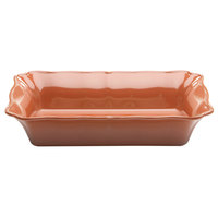 Elite Global Solutions M1410RC The Bakers 4 Qt. Sunburn Terra Cotta Rectangular Melamine Dish