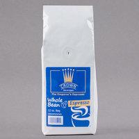 Crown Beverages 12 oz. Emperor's Blend Whole Bean Espresso - 6/Case