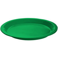 Tablecraft CW3325GN Green Cast Aluminum Round Dessert Plate
