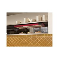 Hatco UGA-24D Ultra-Glo 24 inch x 19 inch Dual Ceramic Infrared Strip Food Warmer with Attached Controls - 1350W