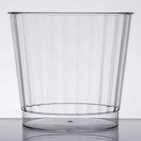 Fineline Renaissance 2409 9 oz. Clear Hard Plastic Crystal Tumbler - 20/Pack