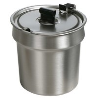 Star SSB-4H 4 Qt. Stainless Steel Inset with Hinged / Notched Cover