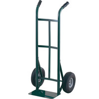 Harper 51T60 Dual Handle 600 lb. Super Steel Hand Truck with 10 inch x 2 1/2 inch Solid Rubber Wheels
