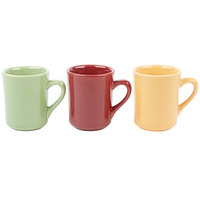 Tuxton DYM-080 DuraTux 8 oz. Assorted Colors Tiara Mug - 36/Case
