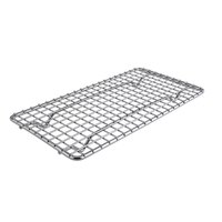 4 1/4 inch x 8 1/4 inch One-Fourth Size Footed Draining Grate for Steam Table Pan