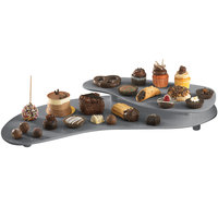 Tablecraft CW16080GR Granite Cast Aluminum 25 inch x 10 inch Two Tiered Platter