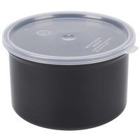 Carlisle 031603 1.5 Qt. Black Classic Crock with Lid - 6 / Case