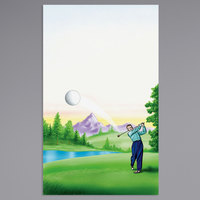 8 1/2 inch x 14 inch Menu Paper - Country Club Themed Golf Design Cover - 100/Pack