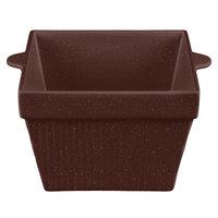 Tablecraft CW1490MAS 6.5 Qt. Maroon Speckle Cast Aluminum Square Bowl