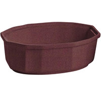 Tablecraft CW1780MAS 2 Qt. Maroon Speckle Cast Aluminum Oval Prism Bowl