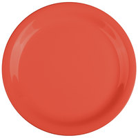 GET NP-7-RO Diamond Mardi Gras 7 1/4 inch Rio Orange Narrow Rim Round Melamine Plate - 48/Case