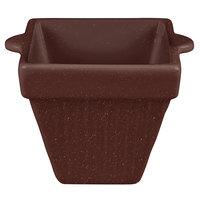 Tablecraft CW1480MAS 18 oz. Maroon Speckle Cast Aluminum Square Condiment Bowl
