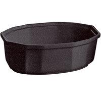 Tablecraft CW1780MIS 2 Qt. Midnight Speckle Cast Aluminum Oval Prism Bowl