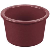 Tablecraft CW1660MRS 17 oz. Maroon Speckle Cast Aluminum Condiment Bowl