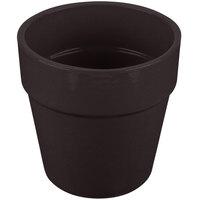 Tablecraft CW1445MIS 2 Qt. Midnight Speckle Cast Aluminum Circle Condiment Bowl