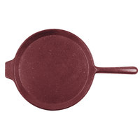 Tablecraft CW4130MRS 10 inch Maroon Speckle Cast Aluminum Pizza Tray with Handle