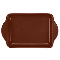 Tablecraft CW4210MRS 7 inch x 5 inch Maroon Speckle Cast Aluminum Charbroiler Tray