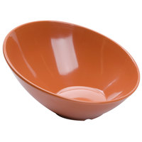 GET B-790-PK Diamond Harvest 1.9 Qt. Pumpkin Slanted Melamine Bowl - 6/Case