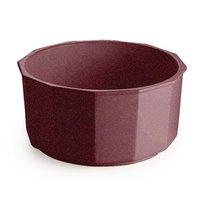 Tablecraft CW1800MAS 4.5 Qt. Maroon Speckle Cast Aluminum Prism Bowl