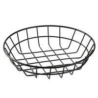 American Metalcraft WIB80 Black Round Wire Basket - 8 inch x 2 inch