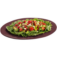 Tablecraft CW12025MRS 19 inch x 15 inch Maroon Speckle Cast Aluminum Wide Rim Oval Platter