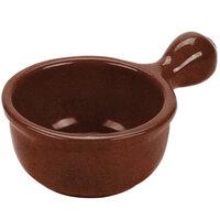 Tablecraft CW3370MAS 8 oz. Maroon Speckle Cast Aluminum Soup Bowl with Handle