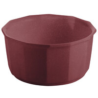 Tablecraft CW1790MAS 2.5 Qt. Maroon Speckle Cast Aluminum Prism Bowl