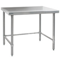 Eagle Group T2448GTEM 24 inch x 48 inch Open Base Stainless Steel Commercial Work Table