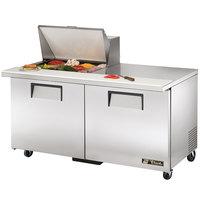 True TSSU-60-12M-B 60 inch Mega Top Two Door Sandwich / Salad Prep Refrigerator