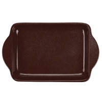 Tablecraft CW4210MS 7 inch x 5 inch Midnight Speckle Cast Aluminum Charbroiler Tray