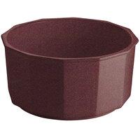 Tablecraft CW1810MAS 8.5 Qt. Maroon Speckle Cast Aluminum Prism Bowl