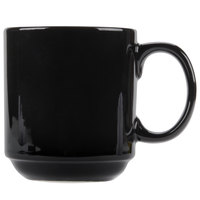 CAC PRM-12-BLK Black 12 oz. Venice Stacking Mug   - 36/Case