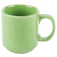 CAC PRM-12-G Green 12 oz. Venice Stacking Mug - 36 / Case