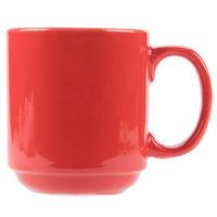 CAC PRM-12-R Red 12 oz. Venice Stacking Mug - 36/Case