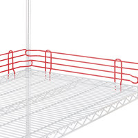 Metro L21N-4-DF Super Erecta Flame Red Stackable Ledge 21 inch x 4 inch